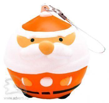 Новогодняя игрушка «Дед Мороз», оранжевая