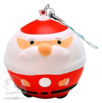 Новогодняя игрушка «Дед Мороз», красная
