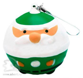 Новогодняя игрушка «Дед Мороз», зеленая