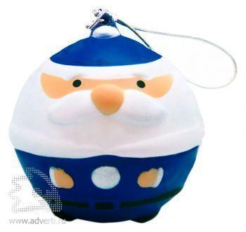 Новогодняя игрушка «Дед Мороз», синяя