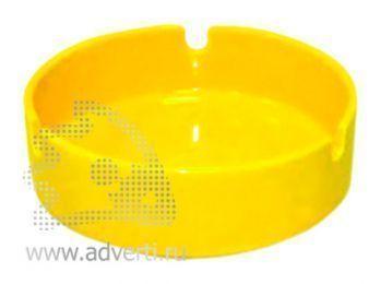Пепельница керамическая PR-008, желтая