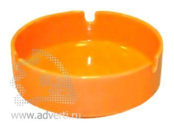 Пепельница керамическая PR-008, оранжевая