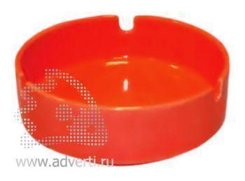 Пепельница керамическая PR-008, красная