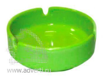 Пепельница керамическая PR-008, зеленая