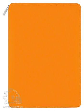 Папка A4 на молнии «Skuba Zipper&raquo, оранжевая