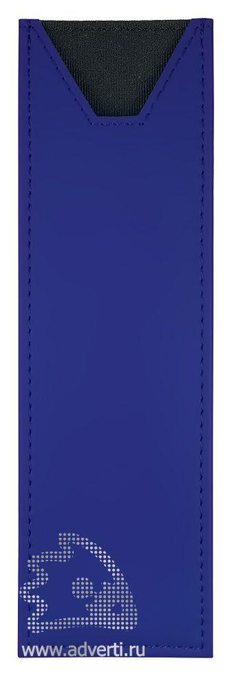 Футляр прозрачный, на 2 предмета, синий