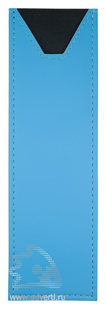 Футляр прозрачный, на 2 предмета, голубой