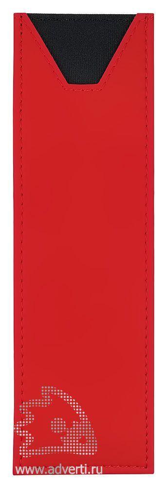 Футляр прозрачный, на 2 предмета, красный