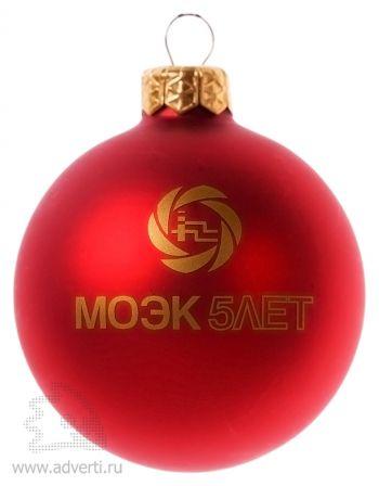 Елочный шар, d = 65 мм, красный