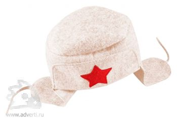 Шляпа для бани подарочная «Шапка-Ушанка», белая