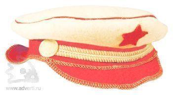 Шляпа для бани подарочная «Офицер», белая
