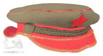 Шляпа для бани подарочная «Офицер», серая