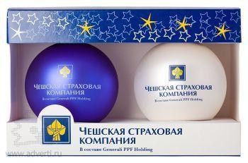 Индивидуальная упаковка на 2 елочных шара