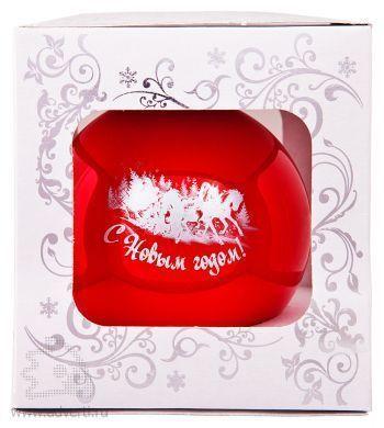 Елочный шар, d = 100 мм, в подарочной коробке стандартного дизайна