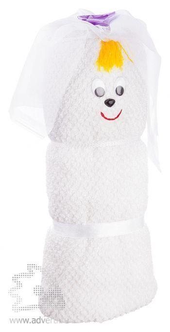 Полотенца-фигурки «Невеста», белые