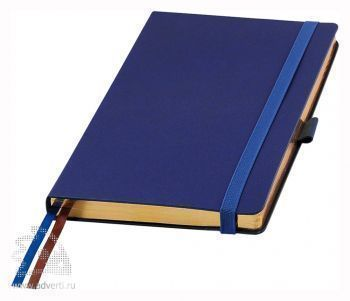 Ежедневники «Blue ocean», синие с бронзовым