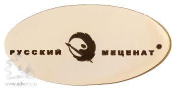 Овальный металлические значки с гравировкой, 22х10 мм