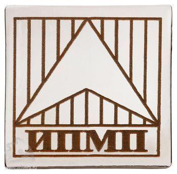 Квадратные металлические значки с гравировкой,15х15 мм