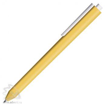 Шариковая ручка «Chalk Metallic Gold», золотая с белым клипом