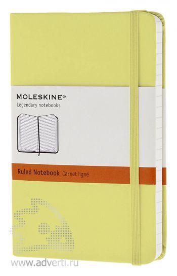 Записная книжка «Classic», светло-желтая