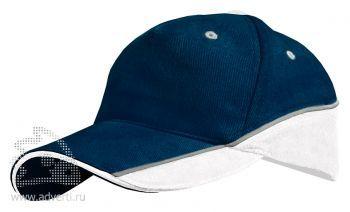 Бейсболка Leela «Combo Heavy», темно-синяя с белым