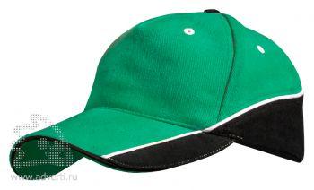 Бейсболка Leela «Combo Heavy», зеленая с черным