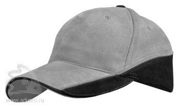 Бейсболка Leela «Combo Heavy», серая с черным
