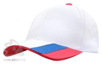 Бейсболка Leela «Combo Heavy», белая с красным