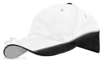 Бейсболка Leela «Combo Heavy», белая с черным