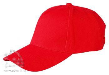 Бейсболка Leela «Heavy», красная