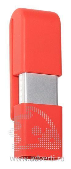 USB флэшки «Clip-clap», красная, закрытая