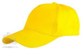 Бейсболка Leela «Light», ярко-желтая