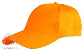 Бейсболка Leela «Light», оранжевая