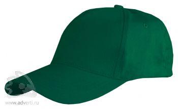 Бейсболка Leela «Light», тмено-зеленая