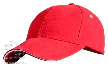 Бейсболка Leela «Sandwich Heavy», красная
