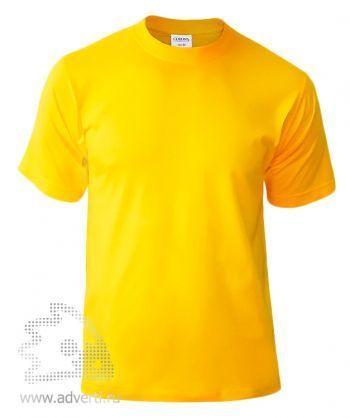 Футболка «Corona», унисекс, ярко-желтая