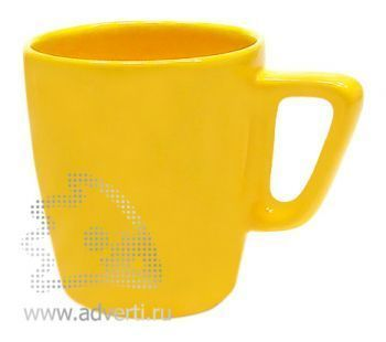 Кружка квадратная PR-038, желтая