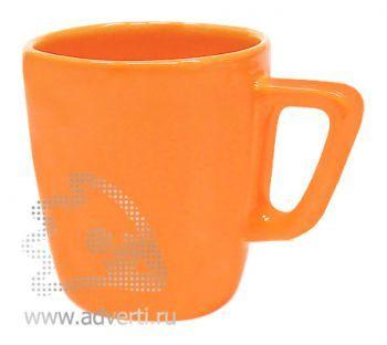 Кружка квадратная PR-038, оранжевая