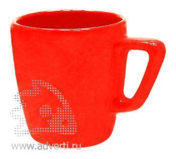 Кружка квадратная PR-038, красная