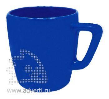Кружка квадратная PR-038, синяя
