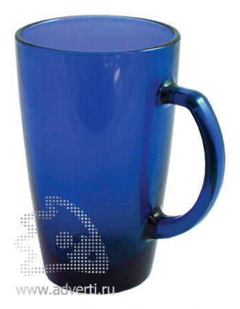 Кружка прозрачная, синяя