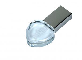 Флеш-накопитель прямоугольной формы, под гравировку 3D логотипа, белый
