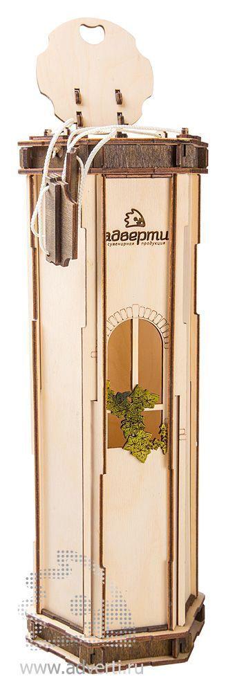 Подарочная коробка для вина, 6 граней, в открытом виде