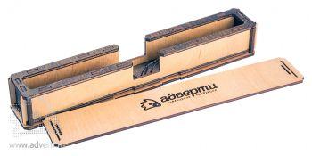 Пенал для ручки откидной на магните, в открытом виде