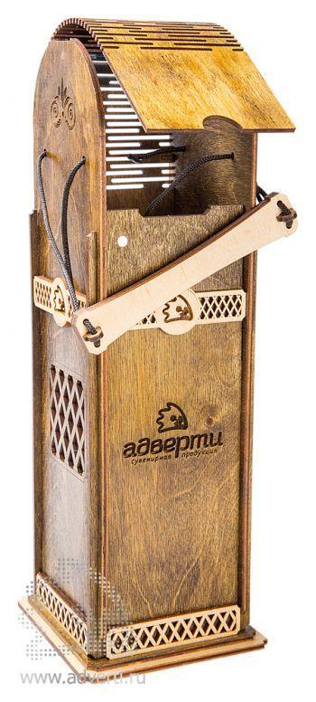 Подарочная коробка для вина, эконом, в открытом виде