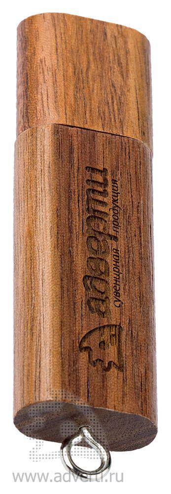 Флеш-карта «Брусок» с закругленными углами, темно-коричневая
