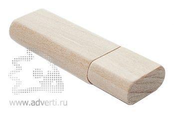 Флеш-карта «Брусок» с закругленными углами, бежевая