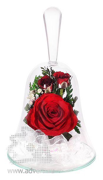 Композиция из красных роз (колокольчик)