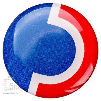 Значки с двухсторонней заливкой полимерной смолой, круглые