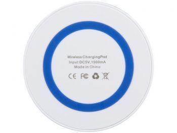 Устройство для беспроводной зарядки, синее, вид снизу